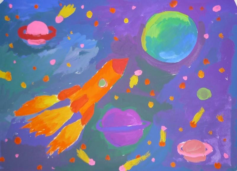 Детские рисовать все о космосе