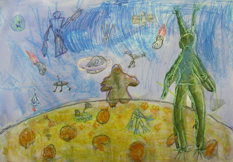 рисунки инопланетян: