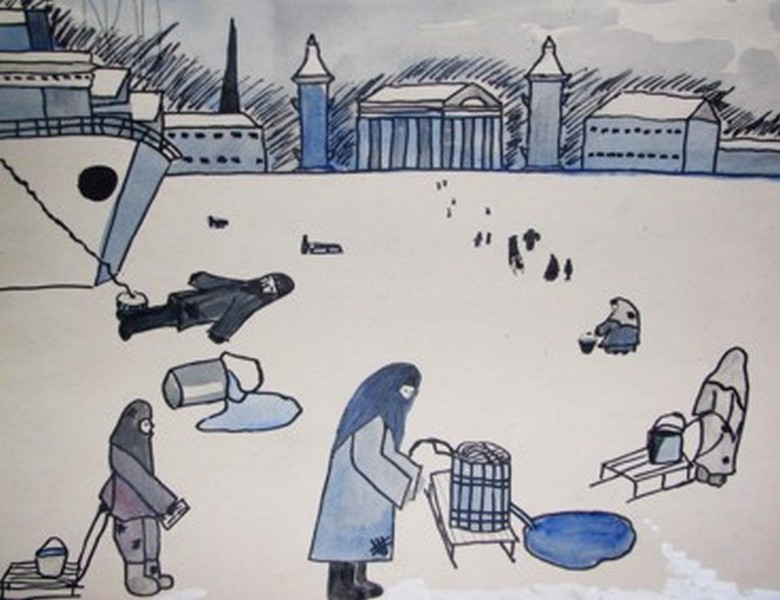 362Раскраска блокадный ленинград