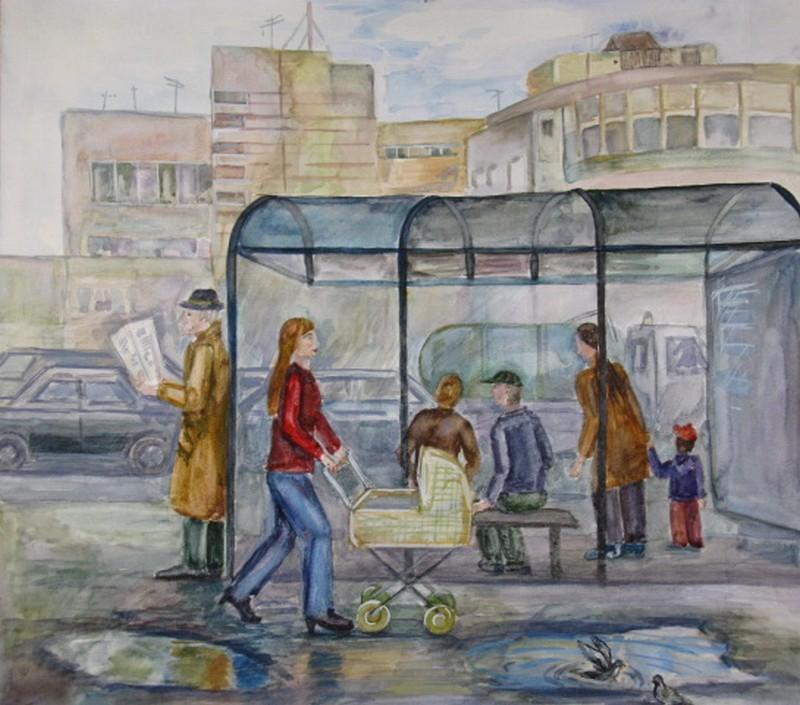 Человек города рисунок